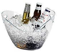 Yesland アイスバケツ クリアプラスチック 3.5リットル - ストレージタブ - ワイン、シャンパン、ビールボトルに最適