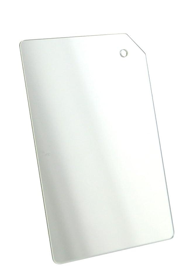 設置バッフル盲信鏡 ミラー 割れない スマホ 財布 名刺サイズ (スクエア)