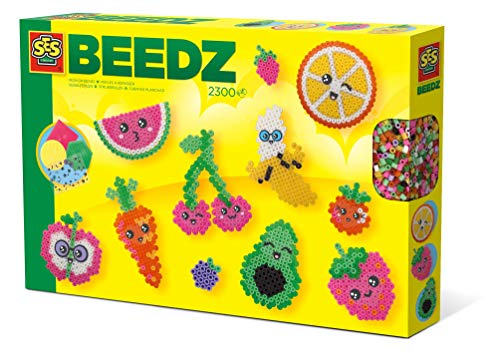 SES Creative 6266 Beedz - Perline da stirare a forma di frutti Kawaii, colori assortiti