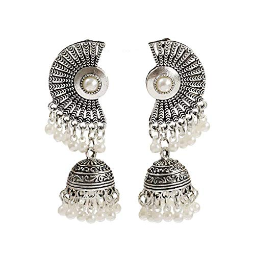 Charm Women's Silver Bohemia Boho Antique Ethnic Bell Drop Indian Earrings Gifts