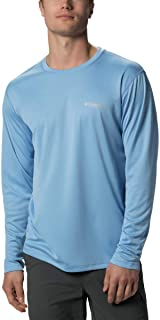 Columbia Men's Standard PFG Zero Rules LS Shirt, White Cap