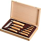Opinel Stainelss Steel Folding Knife Set - Wooden Boxed Set of 10 Knives, No. 2 - No. 12