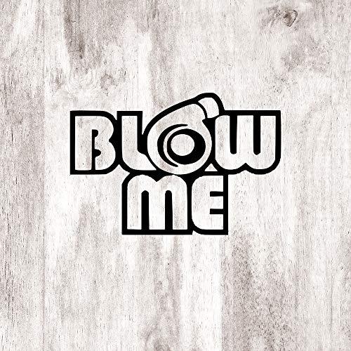 Race Humor Blow ME Turbo Horse Powe auto Sticker, Vinyl Car Decal, Decor voor raam, Bumper, Laptop, Muren, Computer, Thmbler, Mok, Beker, Telefoon, Vrachtwagen, Auto Accessoires