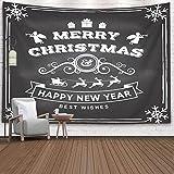 Christmas Tapestry, Home Christmas Theme Tapiz de Pared Tapiz de Nieve Christmas and Happy New Year Stamp Sticker Set con Navidad Año Nuevo Invierno Interior Decoraciones para el hogar
