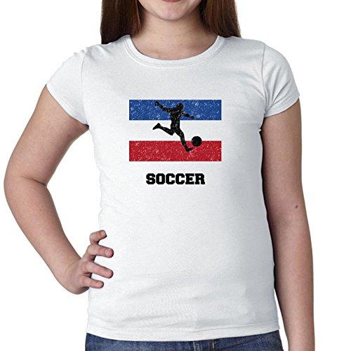 Joegoslavië - Olympisch - Voetbal - Vlag - Katoenen T-shirt van Silhouette Girl's