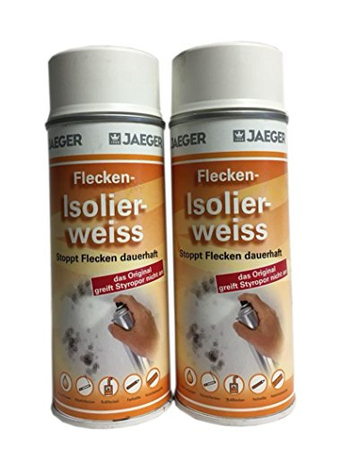 2 x 400 ml Jaeger Flecken Isolierspray Weis 800 ml
