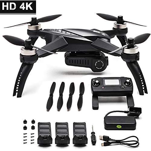 Drone 4K Drone con Telecamera MJX Batteria a Lunga Durata aggiornata Bugs 5W Drone GPS Remote Control FPV Drone(Tipo di Scatola: Nuovo Bug 5W + 3 Batteria)