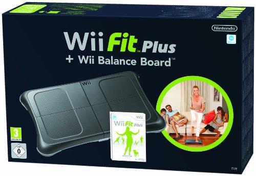 Wii Black Fit Plus and Balance Board Bundle [Edizione: Regno Unito]