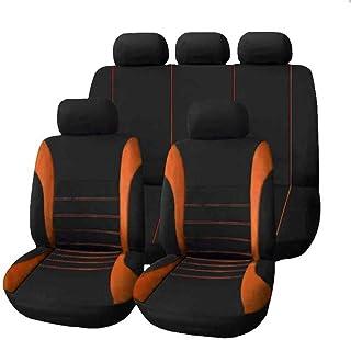 JKHOIUH Four Seasons Universal 5 Asientos Funda de asiento de tela for automóvil Juego de cojines de asiento 9 juegos con costuras General Motors Cover Funda de asiento de automóvil Universal GM Funda