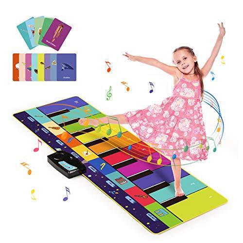 Joyjoz Piano Matte mit 100+ Sounds, Klaviermatte Musik Tanzmatte 4 Modi, Kinder Keyboard Matte Musik Matte Instrumenten Musik-Spielmatte für Kinder Jungen Mädchen(110 x 36 cm)