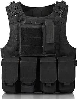 Kid's Tactical Vest, Universal Heavy Duty Tactical Vest Modular Assault Vest, Adjustable Training Tactical Modular Chest, Radio Chest Rig GJB353