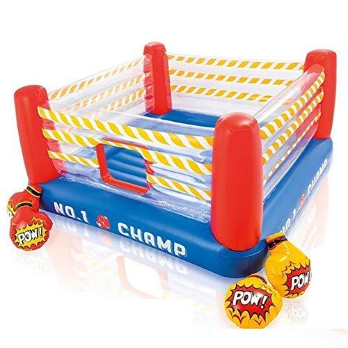 Boxing Ring Juguetes Inflables para Niños, Trampolín Infantil Respetuoso con el Medio Ambiente, Al Aire Libre en Interiores