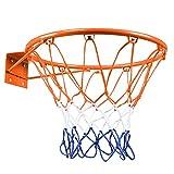 Doolland Llantas de baloncesto de 32 cm, para colgar baloncesto en la pared, para deportes en interiores y exteriores (naranja mejorado)