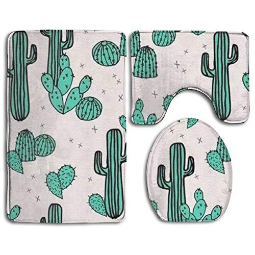yuiytuo Alfombrillas de baño de 3 Piezas Bathroom Rug Mat Toilet Seat Cover and Rug Non-Slip 71dS31dk8PL11111.PNG Bath Mat Bathroom Kitchen Carpet Doormats