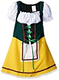 RG Costumes Bavarian Girl Costume, Green/Yellow/White, Large