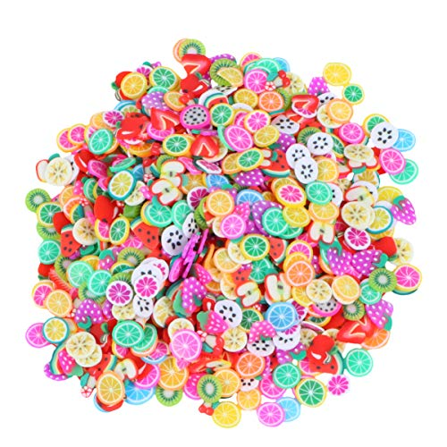 Frcolor Coloful Fruit Zachte Keramiek Nail Art DIY Decoraties Manicure Gereedschap Accessoires Schijven Polymeer Clay 1000 stuks