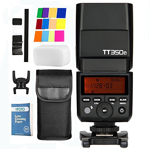 Godox TT350F Mini 2.4G TTL HSS 1/8000S GN36 Inalambrico Camara Speedlite Flash para Fuji X-Pro1 x-t20 x-t2 x-t10 X-T1 X-Pro1 X-E1 x-a3 X100 F X100T Camara (TT350F)