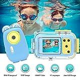 Appareil Photo Enfants Appareil Photo Etanche 8MP 1080P HD Appareil Photo Compact 2,0 Pouces écran IPS avec Safe Shell De...