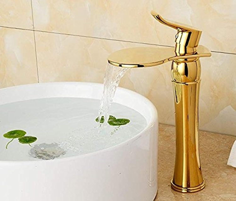 Luxury Deck Mount One Handle Basin Sink gold Bathroom Faucets Faucet golden Brass Bathroom Vanity Sink Mixer Taps