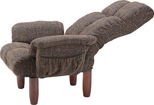 AZUMAYA一人占め贅沢座椅子グレイRKC-39GY