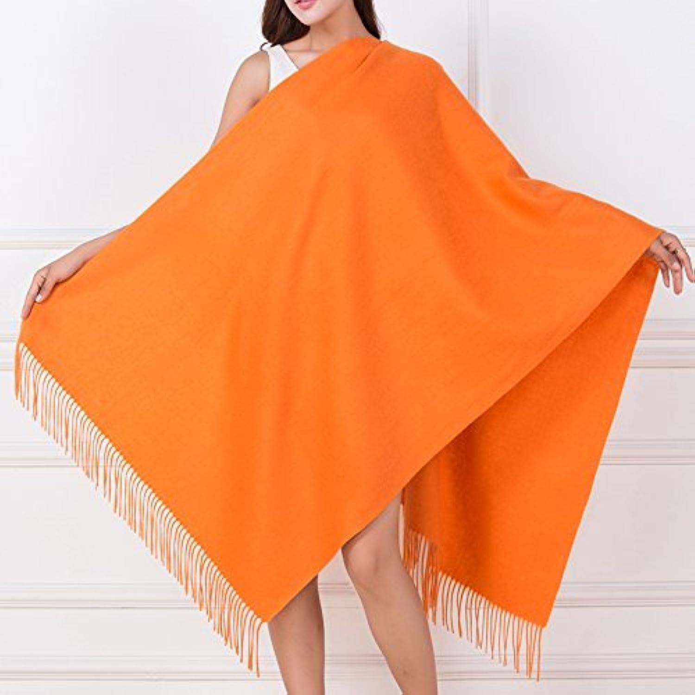 DIDIDD Scarfladies winter wool scarf thickened warm fleece shawl