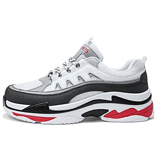 MERRYHE Hommes Marche Randonnée Sneakers Trekking Chaussures Antidérapantes Escalade en Plein Air Plus Grande Taille Casual Trainers,White-40
