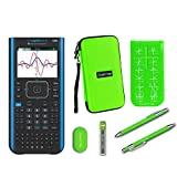 Texas Instruments Ti Nspire CX II CAS Graphing Calculator + Guerrilla Zipper Case + Essential Graphing Calculator Accessory Kit, Black (Green)