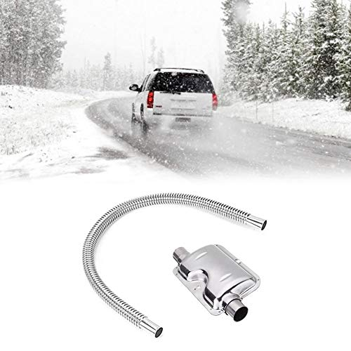 Best Price Exhaust Muffler 120cm, Stainless Steel Pipe Silencer for Heater Kit Car Heater Accessorie...