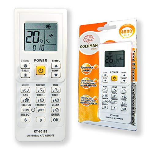 Mando Universal Aire Acondicionado climatizador Inverter para Split Bomba de Calor y Frio, Compatible con Grandes Marcas.