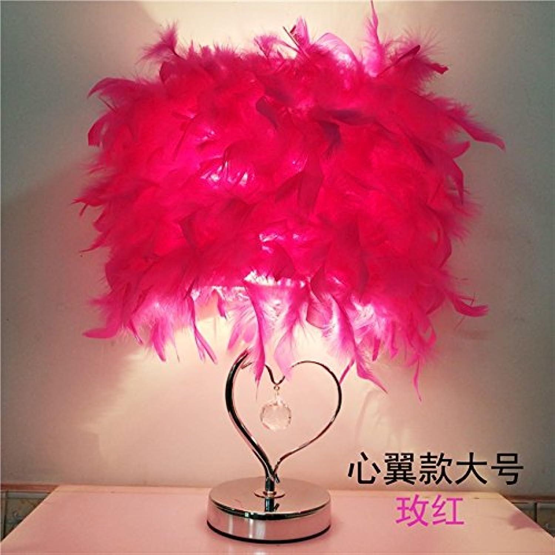 Feather crystal Lampe, Lampe, Lampe, 40  32 cm lieber rot, Schalter des Helligkeitsreglers B071CF4W4G  | Treten Sie ein in die Welt der Spielzeuge und finden Sie eine Quelle des Glücks  c72f40