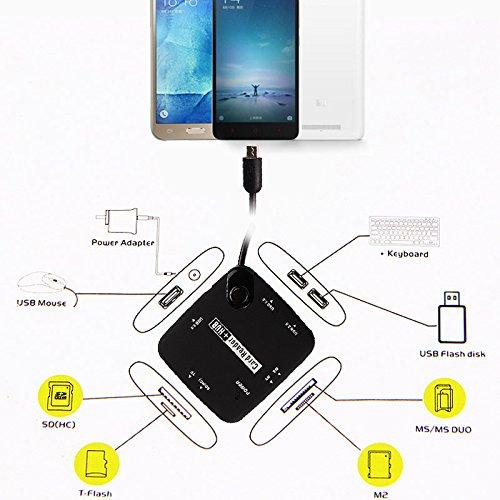 PerGrate 7-in-1 Micro USB HUB SD TF Kartenleser OTG für Samsung Galaxy S4 S5 S6 Hinweis 3 4