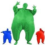 Aufblasbares Fett Dick Kleid Fasching Zweite Haut Anzug Karneval Luftschiff Kostüm - Grün …