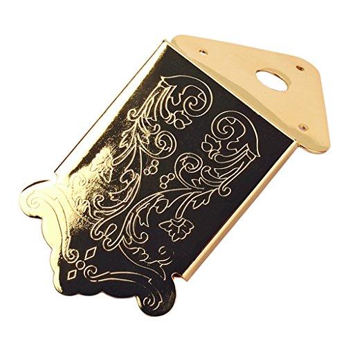 Metall Mandoline Ersatz Saitenhalter Brücke W / 3pcs Schrauben Luthier Tools - Golden