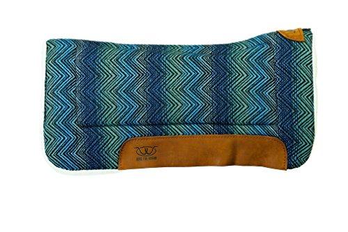 "Weaver Leather All Purpose 30"" x 30"" Contoured Saddle Pad with Felt Insert and Merino Wool Fleece Bottom, Blue"
