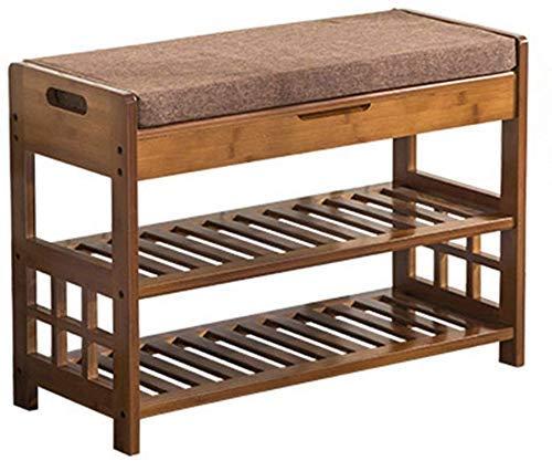 FGVBC Porche Cambio de Zapatos Taburete Organizador de bambú Soporte a Prueba de Polvo Zapatero Muebles de gabinete (2 tamaños) Artículos para el hogar (Tamaño: 52 * 29 * 49 cm)