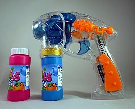 Burbujas De Jabon - Juguete De Burbujas De Jabon Con Luces - 2 Botellas De Burbujas