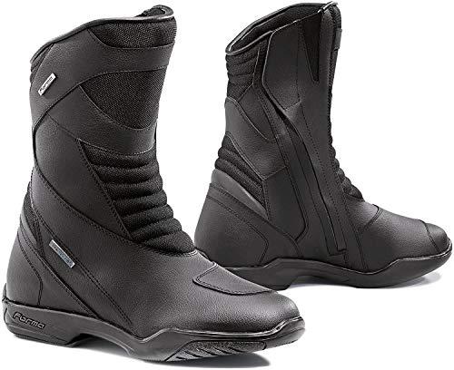 FORMA Botas de Moto Nero WP con Homologación de Tipo CE, Negro, 40