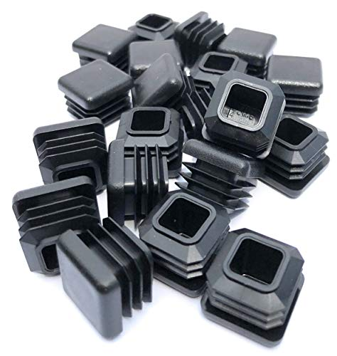 3/4 Inch Square Tubing End Cap 20 PK (14-20 Gauge Wall Tubing) Plastic Plugs/Square End Caps/Plastic End Caps/Square Plug/Square Plastic Plug/by EZENDS … (20)