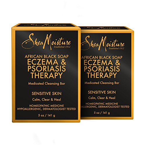 SheaMoisture African Black Soap Eczema & Psoriasis Therapy | Pack of 2 | 5 oz.