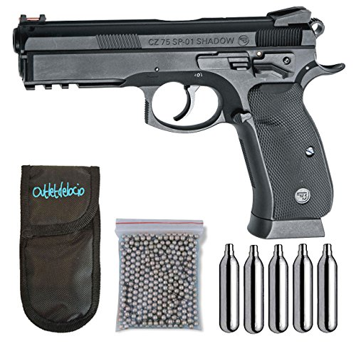 Outletdelocio. Pistola perdigon ASG17526 CZ SP-01 Shadow. + Funda Portabombonas + Balines + Bombonas co2. 23054/29318/13275