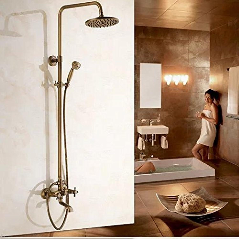 Antike Kupfer Anheben Dusche Wasserhahn eingestellt