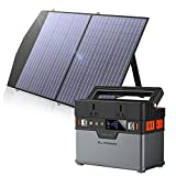 ALLPOWERS Portable Power Station 372Wh / 100500mAh Solar Generator with Foldable 1x100W Solar Panel Emergency Power Supply Lithium Battery Pack for Outdoor Camping Fishing