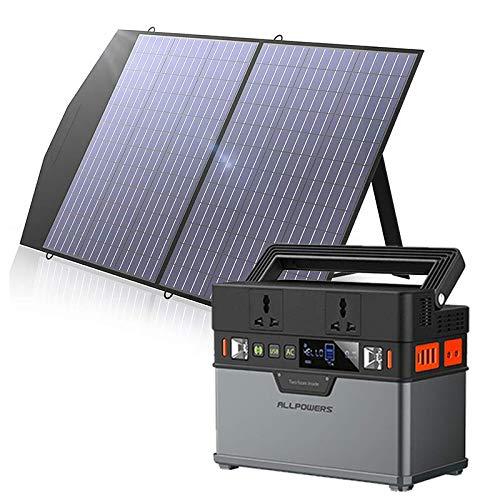 ALLPOWERS Estación de alimentación portátil 288 Wh/78000 mAh generador solar con 1 panel solar de 100 W con batería de litio para actividades al aire libre y camping