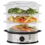 Best Food Steamers - Daewoo 3 Layer Food Steamer, 9L Capacity, Stainless Review