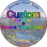 TIRE COVER CENTRAL Custom Personalized Spare tire Cover (Select tire Size/Back up Camera Option in MENU) Custom Sized to Any Make/Model(285/70r17 Centered Back up Camera)