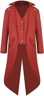 VRTUR Herren Mantel Frack Jacke Gotisches Kleid Mantel Einheitliches Kostüm Party Oberbekleidung Oberteile Outwear