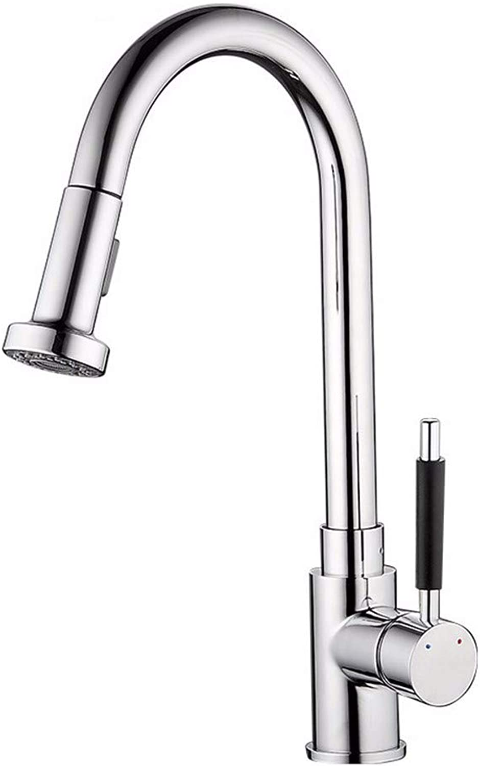 Home kitchen multi-function hot and cold pull faucet retractable stretchable single-type faucet greenical faucet