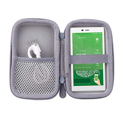 Aenllosi Reise Hart Taschen Hülle für GlocalMe G4 4G WLAN Router Hotspot (Grau)