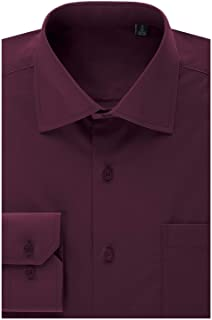 MONDAYSUIT Mens Regular Fit Dress Shirt w/Reversible Cuff (Big&Tall Available)