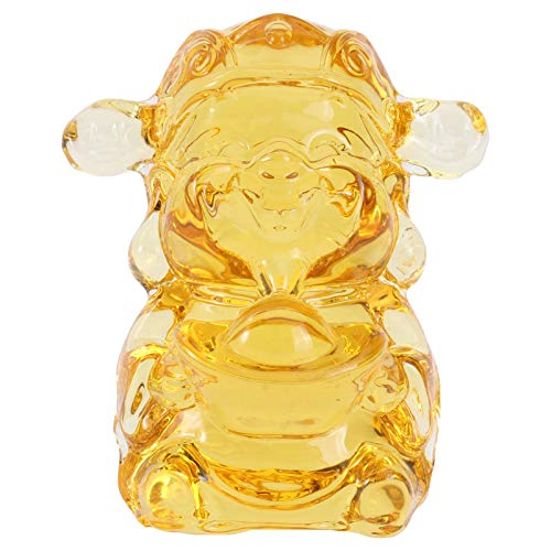 WINOMO Chinese Feng Shui Wealth Gods Statues Glass Buddha Figure for Attract Wealth Good Luck Home Decoration